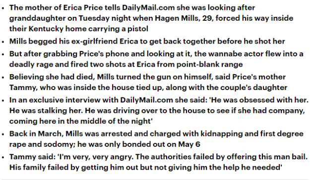 原创 29岁男星枪杀前任后自杀!女方母亲还原经过:枪口对着女儿求复合