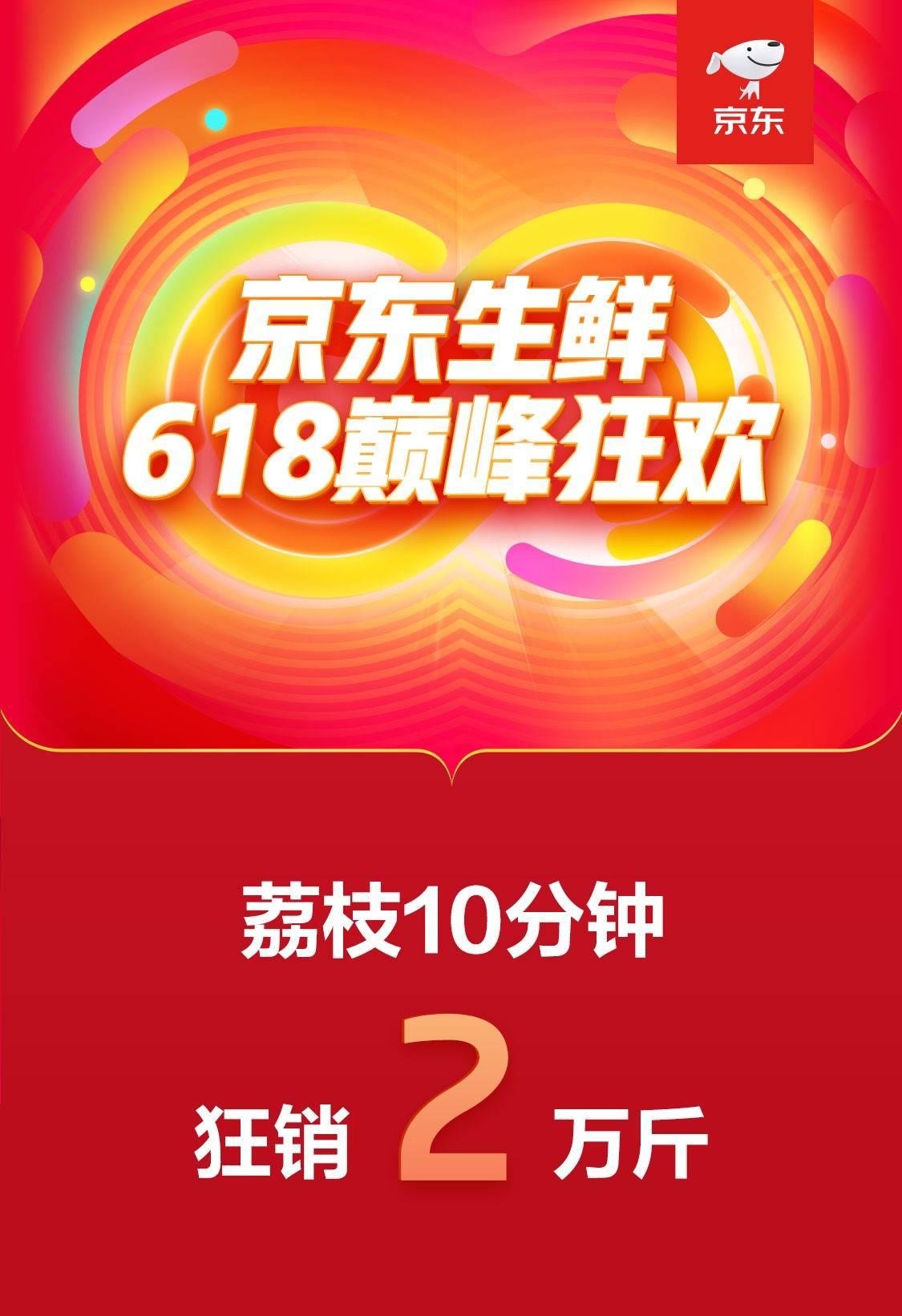 """开场10分荔枝卖出20000斤!京东生鲜618成吃货""""果盘子""""采买主场"""