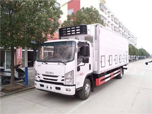 刘国刘清五十铃鸡苗运输车 可装蓝卡和4.2 m集装箱