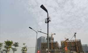 中科智城——广州南沙超大5G综合杆项目开始试运行