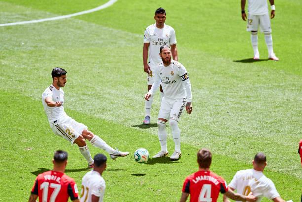 半场-阿森西奥首发阿扎尔缺阵 皇马0-0