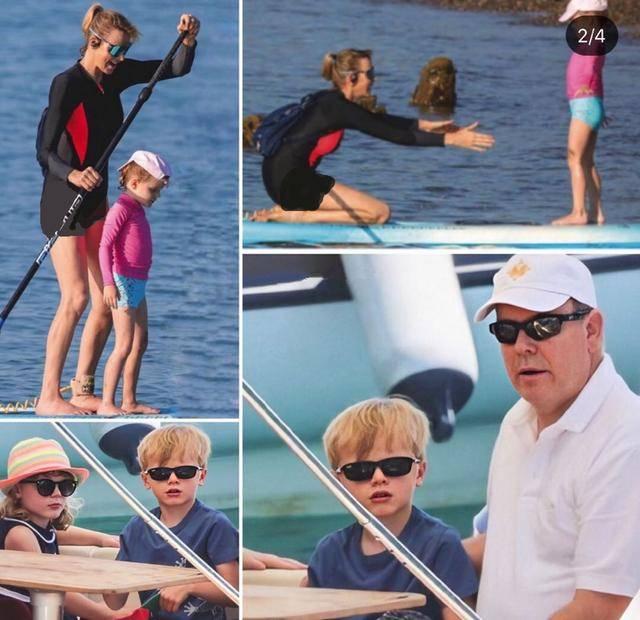 原创 摩纳哥王妃再现运动员风采,暑假带娃玩水,超模同款身材惹人羡