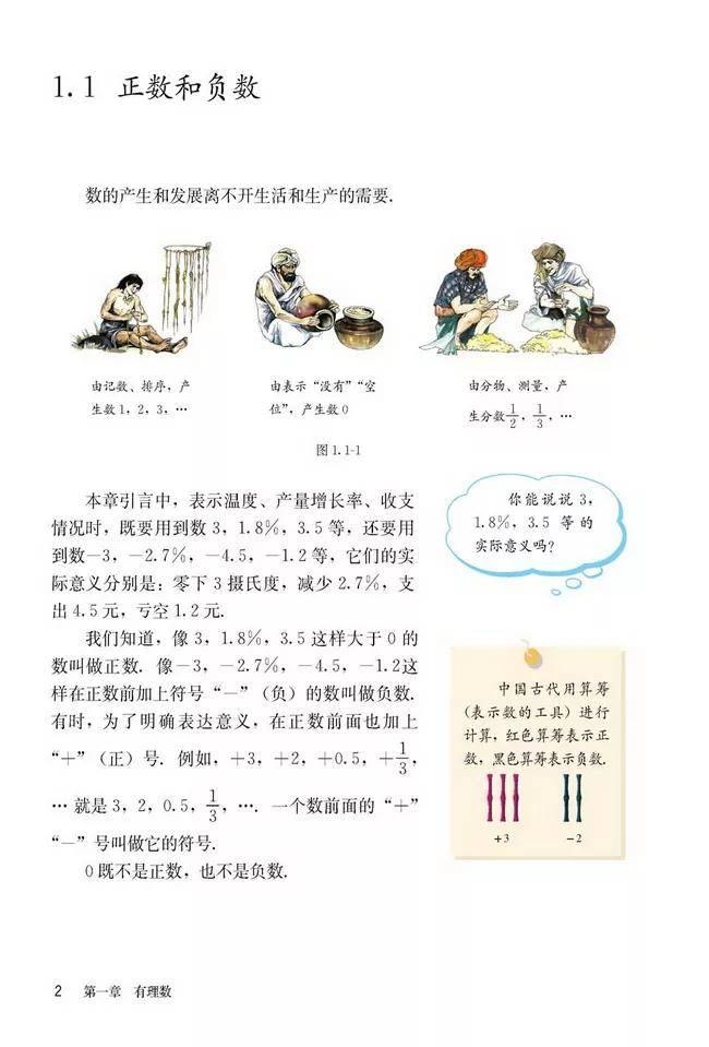 人教版初中数学七年级上册|电子课本(高清版)(图8)