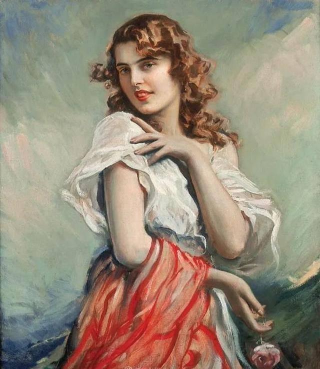 德国艺术家人体油画中的女郎,性感而优雅
