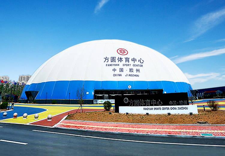 气膜体育馆成为体育馆的新背景。