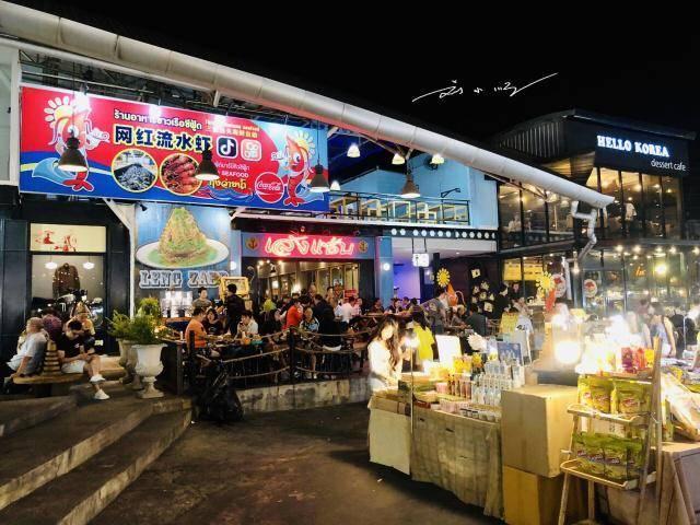 """原创             泰国最热闹的""""网红""""夜市,每天都人山人海,好多中国游客去打卡"""