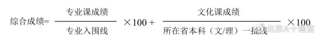 2020年清华大学设计学类成绩计算公式