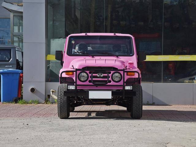 鬼扯:难得一见的粉色北汽212,就算是不买在马路上看到也回头看一看。想起鬼妹当时那款墨绿色的改装212,去哪儿都不在话下,除了费油和简陋,都是优点。