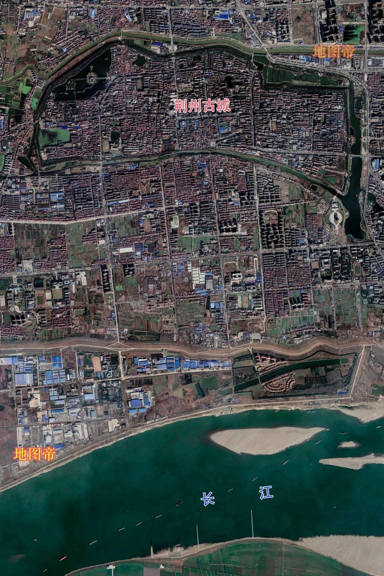 战国时楚国为何定都湖北荆州?看古城航拍图一目了然