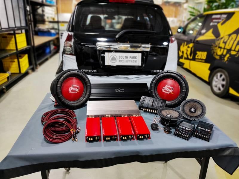 雪佛兰科帕奇改装全套比威音响系统——厦门南方公园汽车音响改装