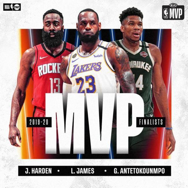 NBA发布各大奖项候选名单 詹皇字母哥哈登竞赛MVP