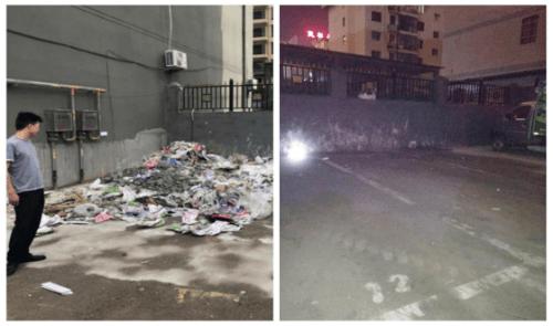 民权县12345:小区垃圾堆积无人清理 12345现场督办解决