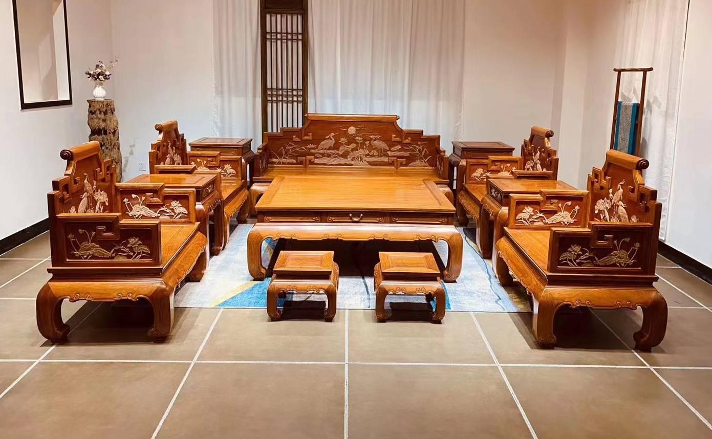 缅甸花梨大果紫檀红木家具不错,但国内