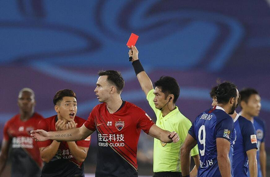 中超联赛第四轮的比赛中,深圳佳兆业1-2不敌