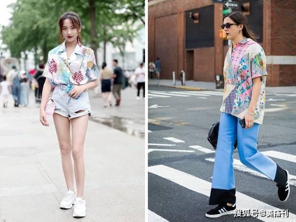 今年短袖衬衫越花哨越流行,看看杨幂戚薇怎么穿,你一定会爱上它