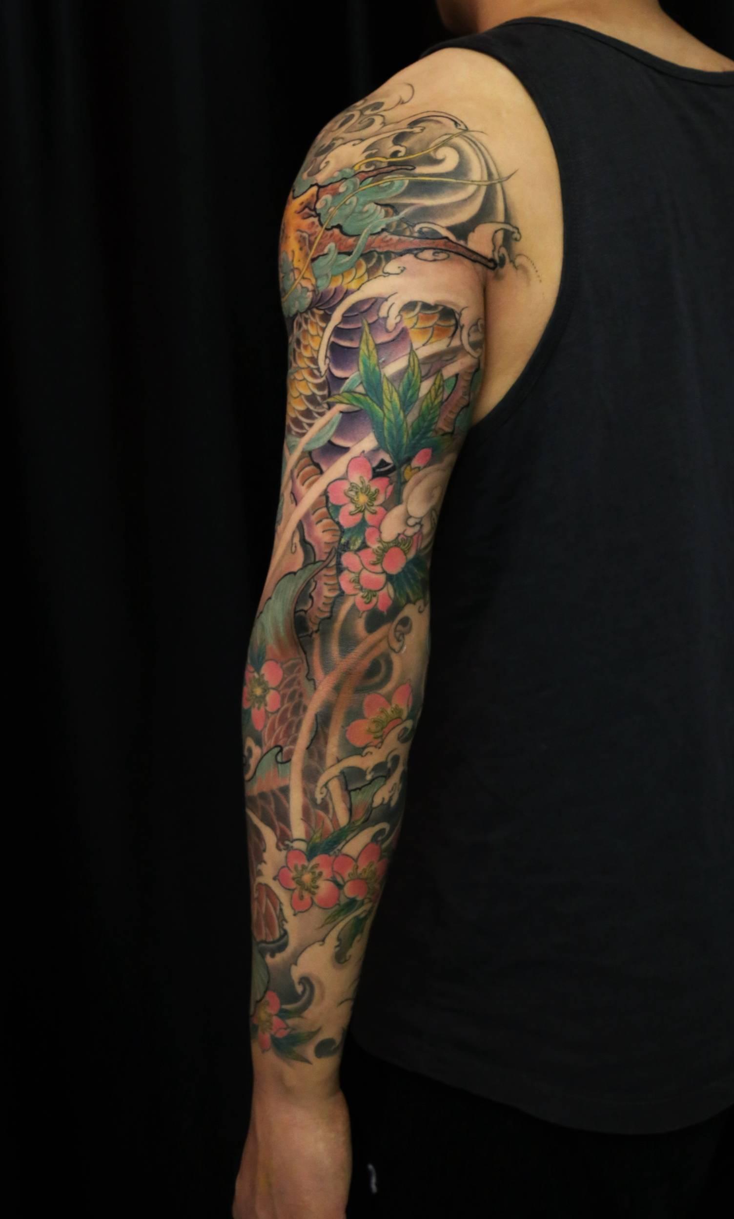 杨戬半花臂纹身手稿
