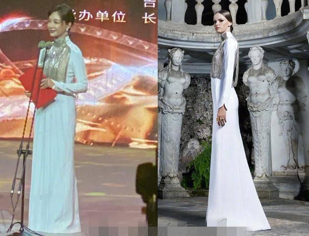 原创             江疏影美如富贵花,陈数穿高定礼服却不显腰,还是咏梅惠英红会穿