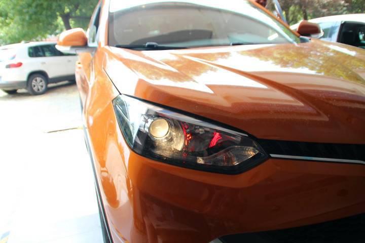 MG锐腾改装大灯原厂汽车卤素灯升级版四镜头LED大灯效果惊人