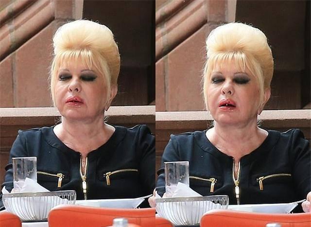 原创             伊万卡亲妈化妆像巫婆,吃面狼吞虎咽不擦嘴,年轻金发碧眼是模特