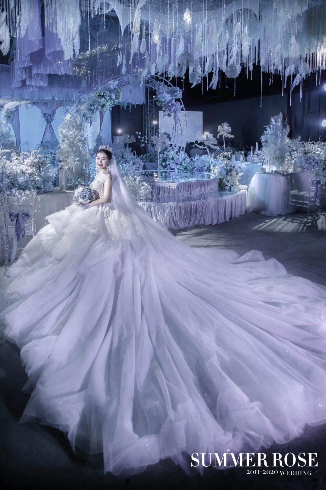 清新淡雅的浅蓝婚礼,绵绵不绝的飘逸感