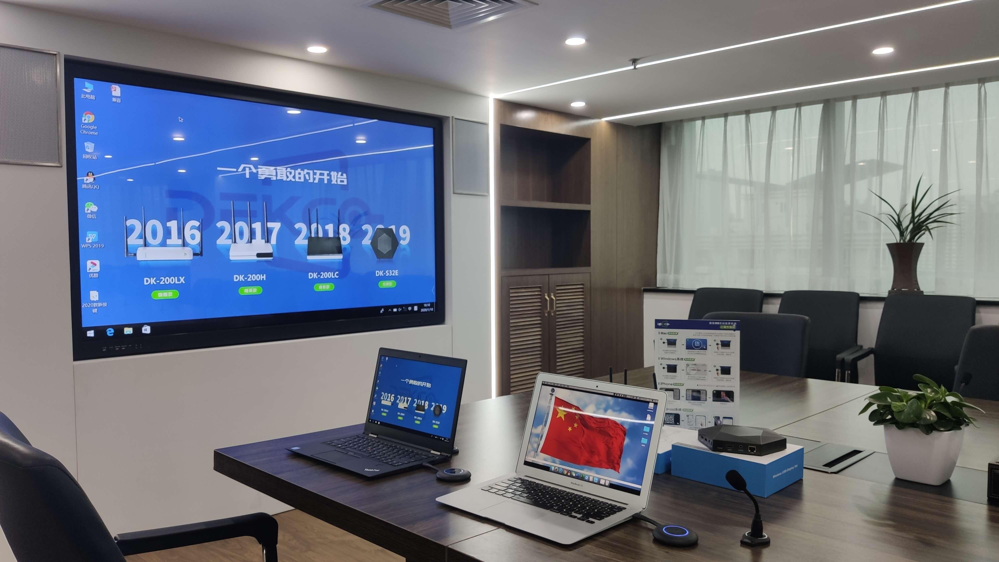 会议室的电脑图片可以随机切换显示在电视或投影仪上吗?