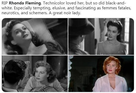 美国传奇女星朗达弗莱明去世 享年97岁