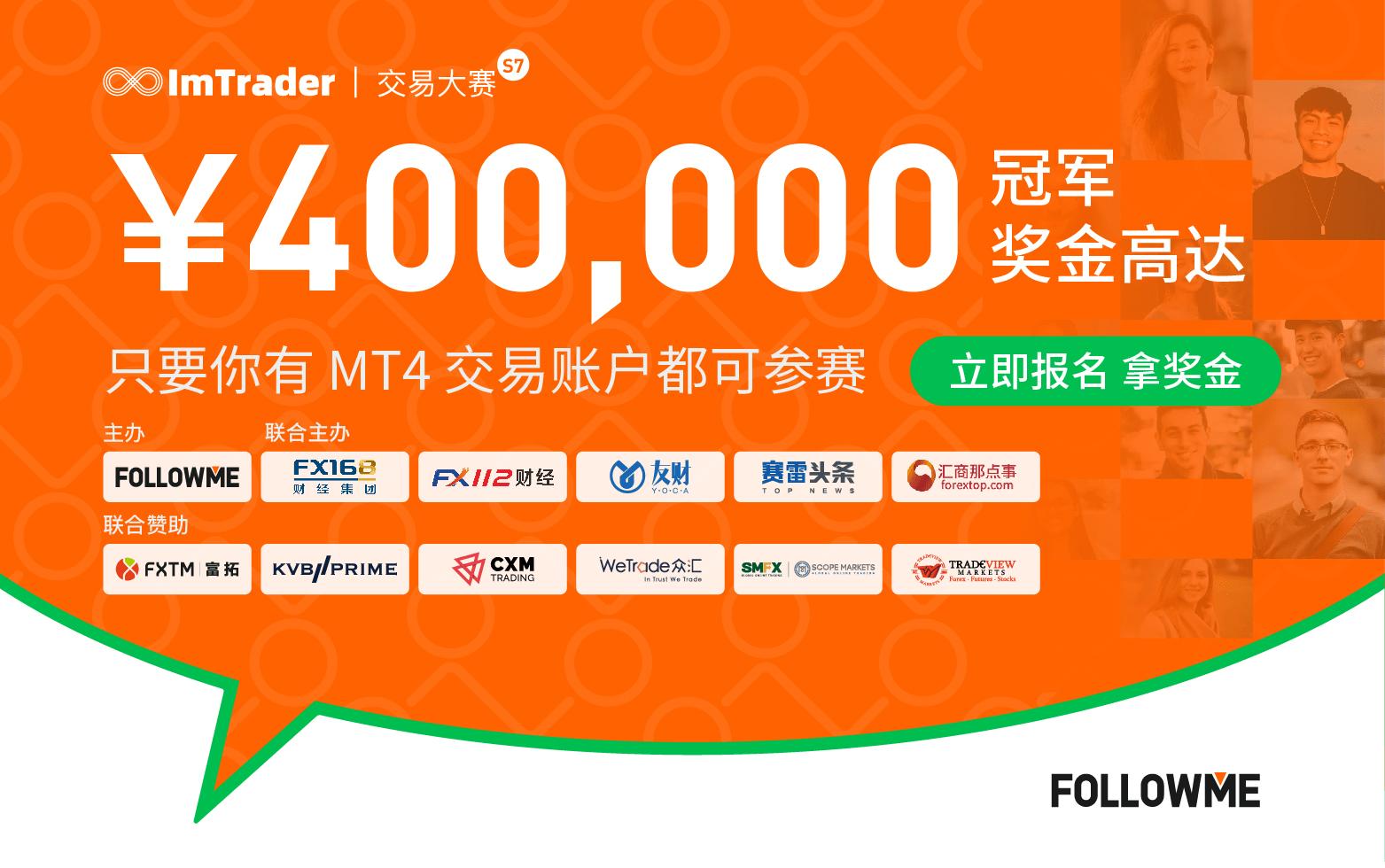 CXM 加盟 FOLLOWME 第7届交易大赛,使用 CXM 账户参赛,奖金翻倍!