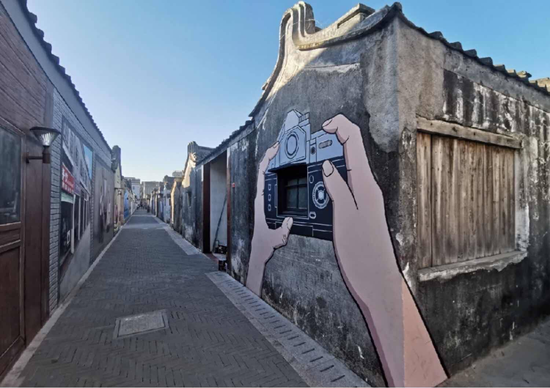 "3D墙画扮靓美丽新农村,龙湖这个村再次成为""网红打卡地"""