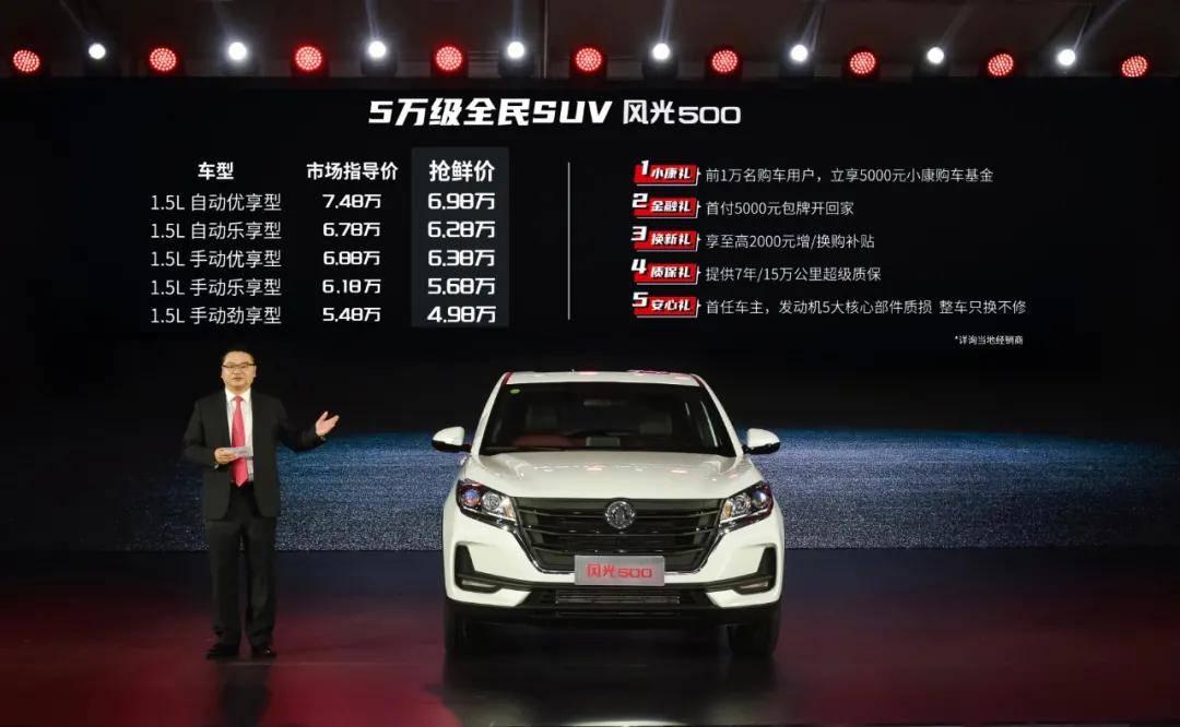 原装自紧凑型SUV全新低价!5万多可以买500个风景
