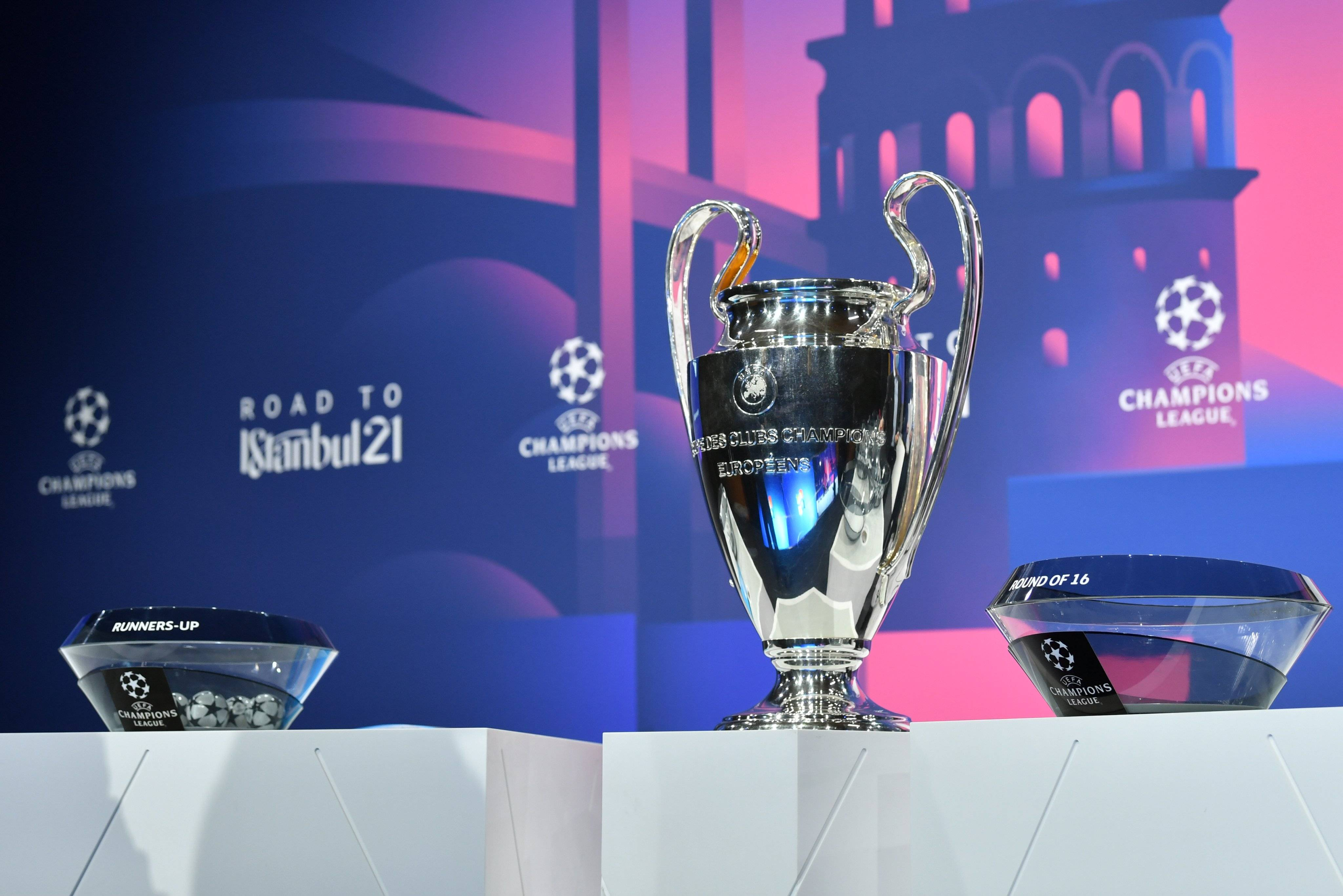 欧冠联赛八分之一决赛抽签在瑞士尼翁举行,终究抽签