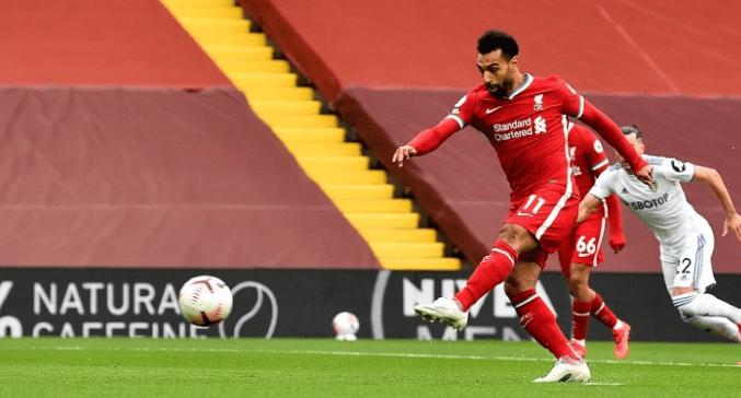 萨拉赫进球追平托雷斯超越C罗 2020年英超进球称王