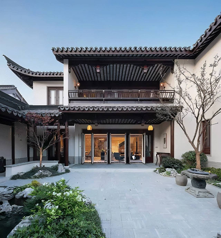 徽派建筑中式庭院图片