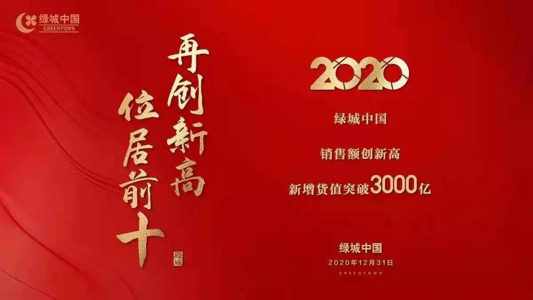 超额完成年度目标 绿城中国以2892亿元销售额跃居行业前十