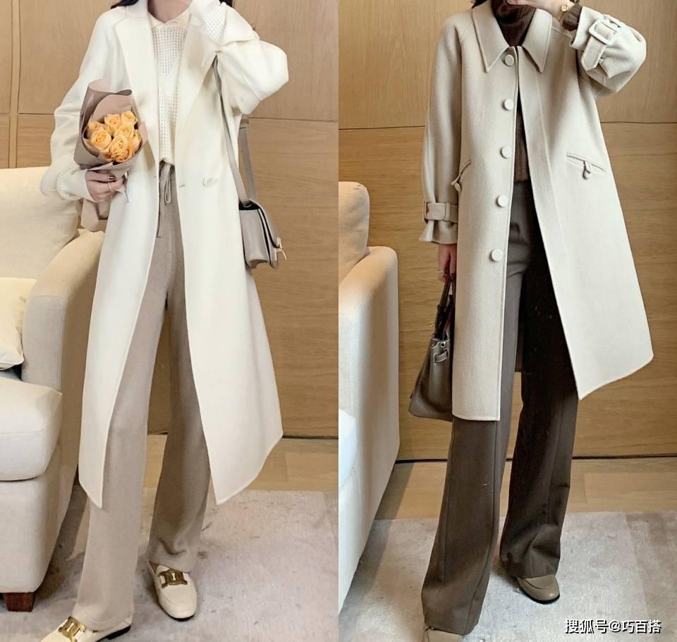 """原创             一件呢子大衣的18种方案,堪称""""万能外套"""",冬季里的气质风搭配"""