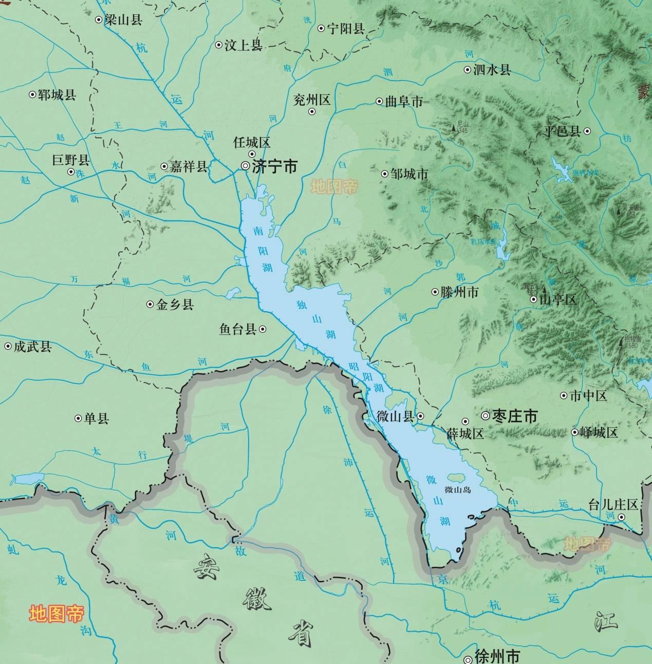 微山湖,是鲁苏界湖,为何山东独有?