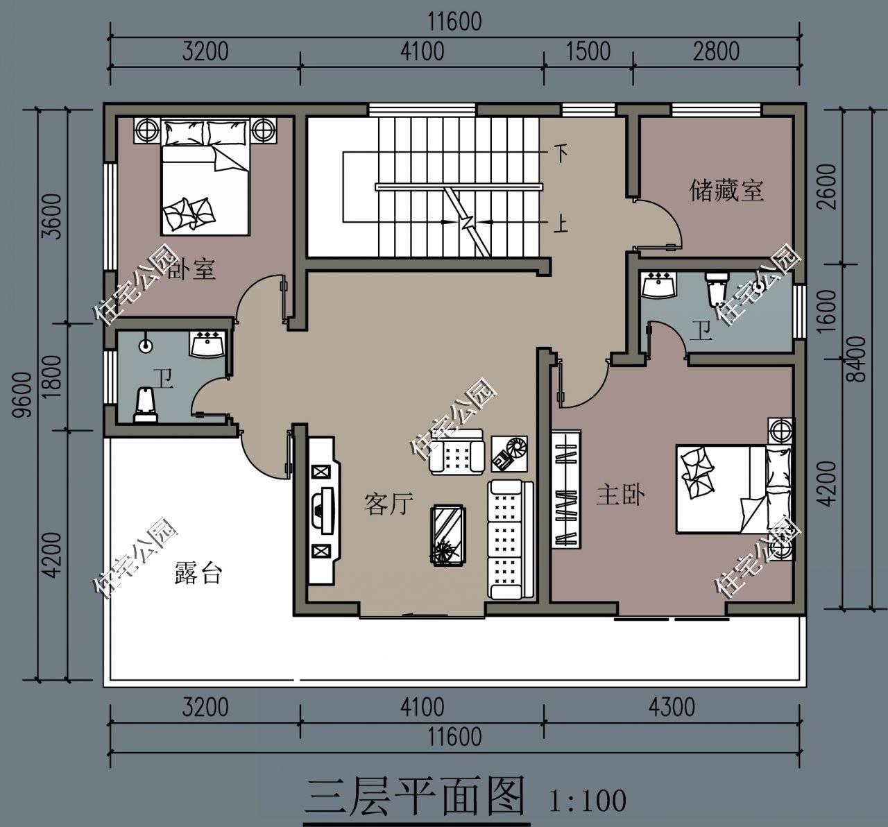 宽9米,长11米,农村自建房该怎么设计