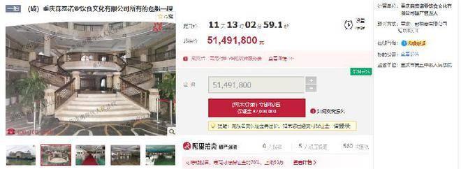 重庆长江一豪华餐饮船5149万元强制拍卖
