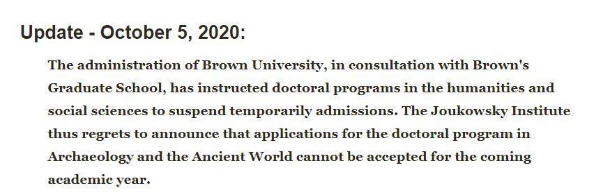 布朗大学暂停6项人文学科招生,你的专业不会被取消吧?