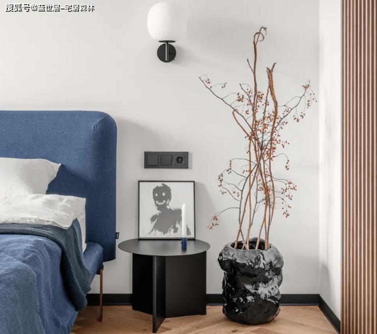 「BOB真人  宅居森林」100㎡简约小公寓,几何感带来的灵动(图4)