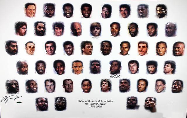 1996年NBA评选出前史50大巨星时