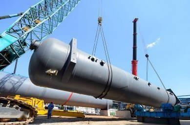 葫芦岛锦西石化超大型设备实现国内最高精度等级吊装