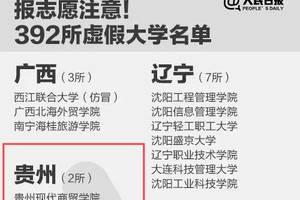"""392所!其中贵州2所!全国""""野鸡大学""""曝光"""