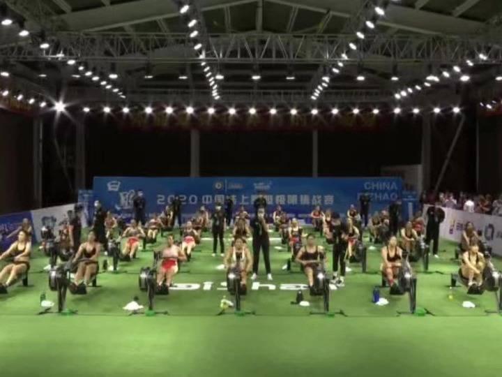 """2020中国陆上赛艇极限挑战赛在山东日照""""云""""开赛"""