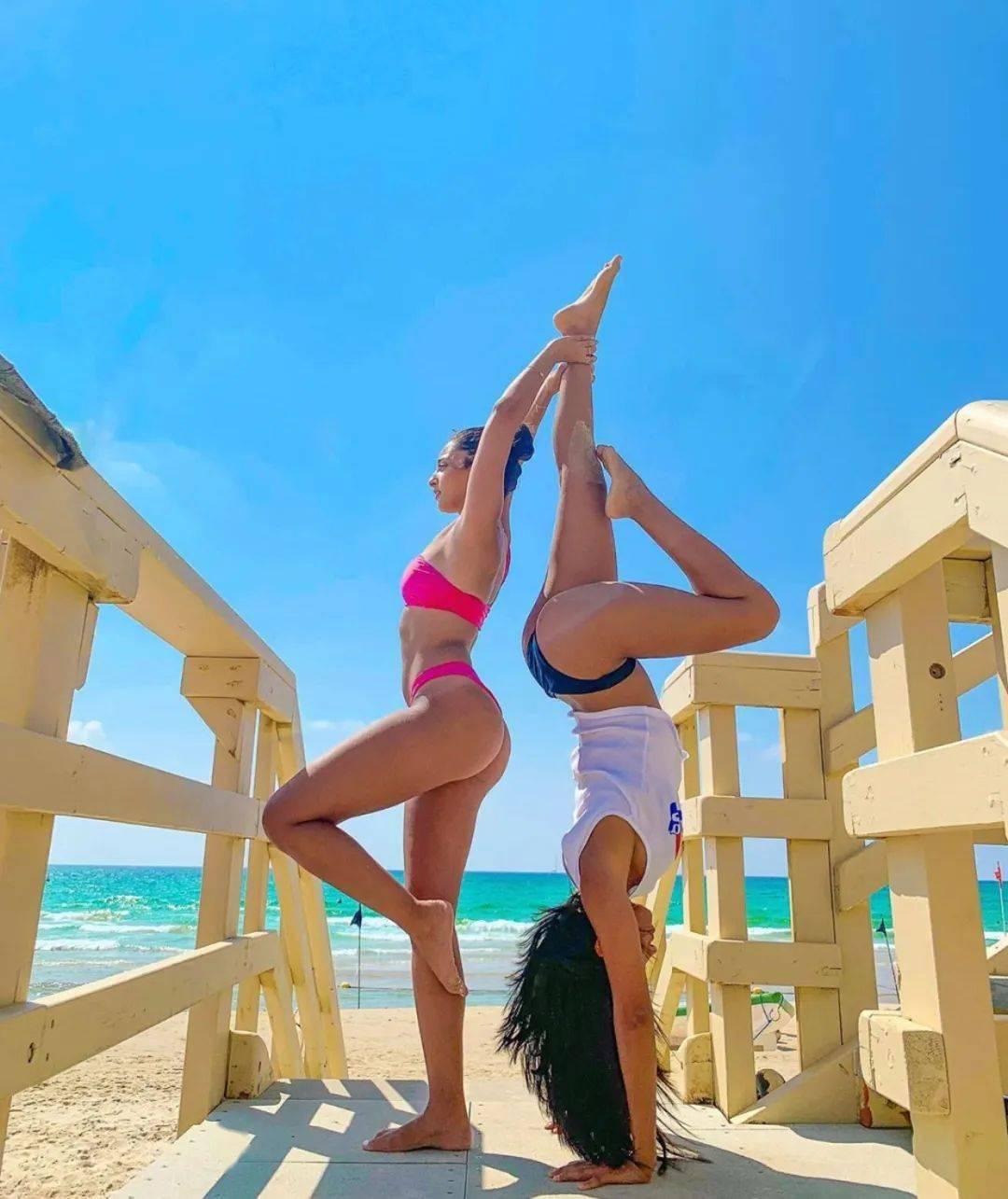 不知道双人瑜伽照怎么拍?收藏这篇文章就够啦! 减肥窍门 第12张