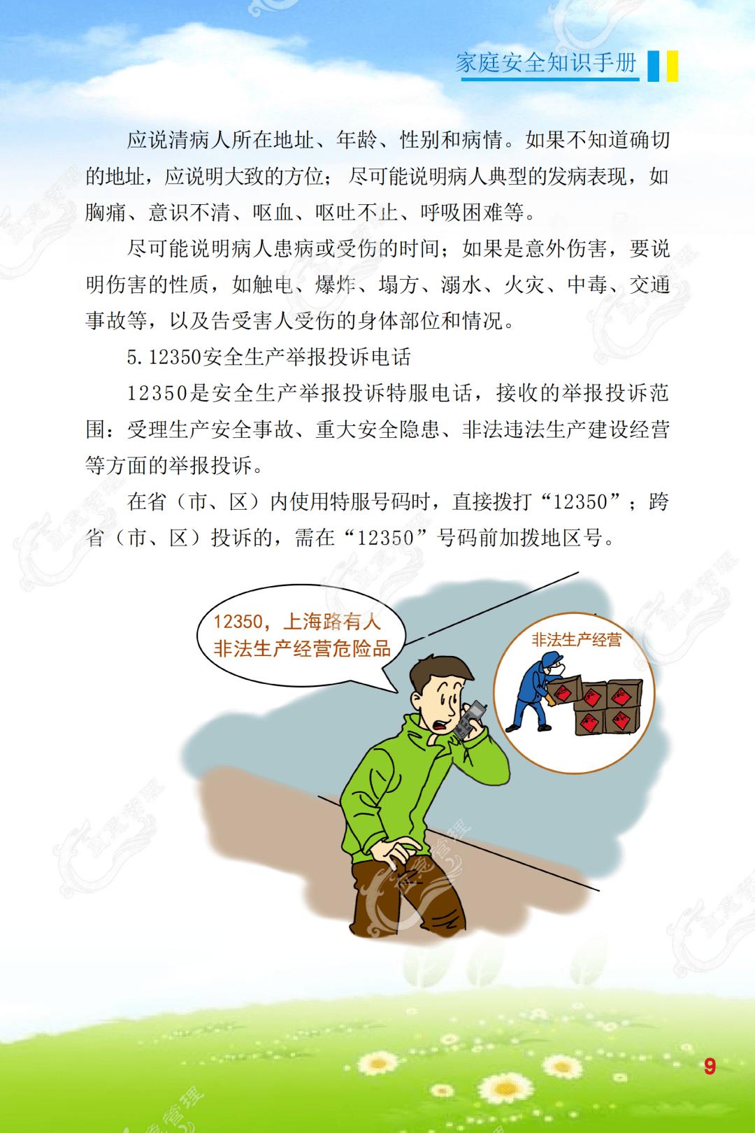 消防安全知识卡通