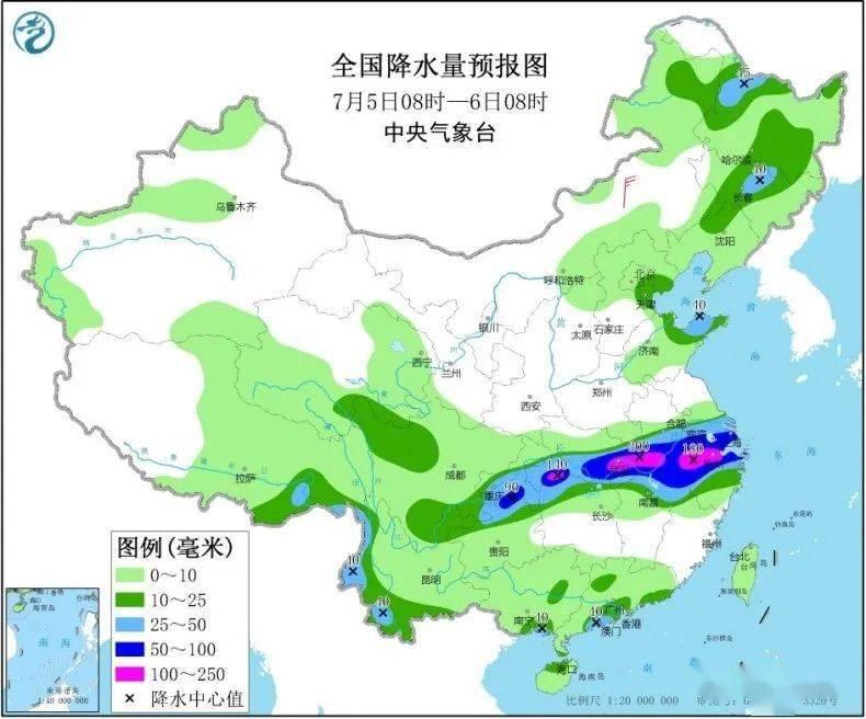 暴雨预警升级,强降雨盘踞长江中下游地区,下周初华北黄淮高温又来袭