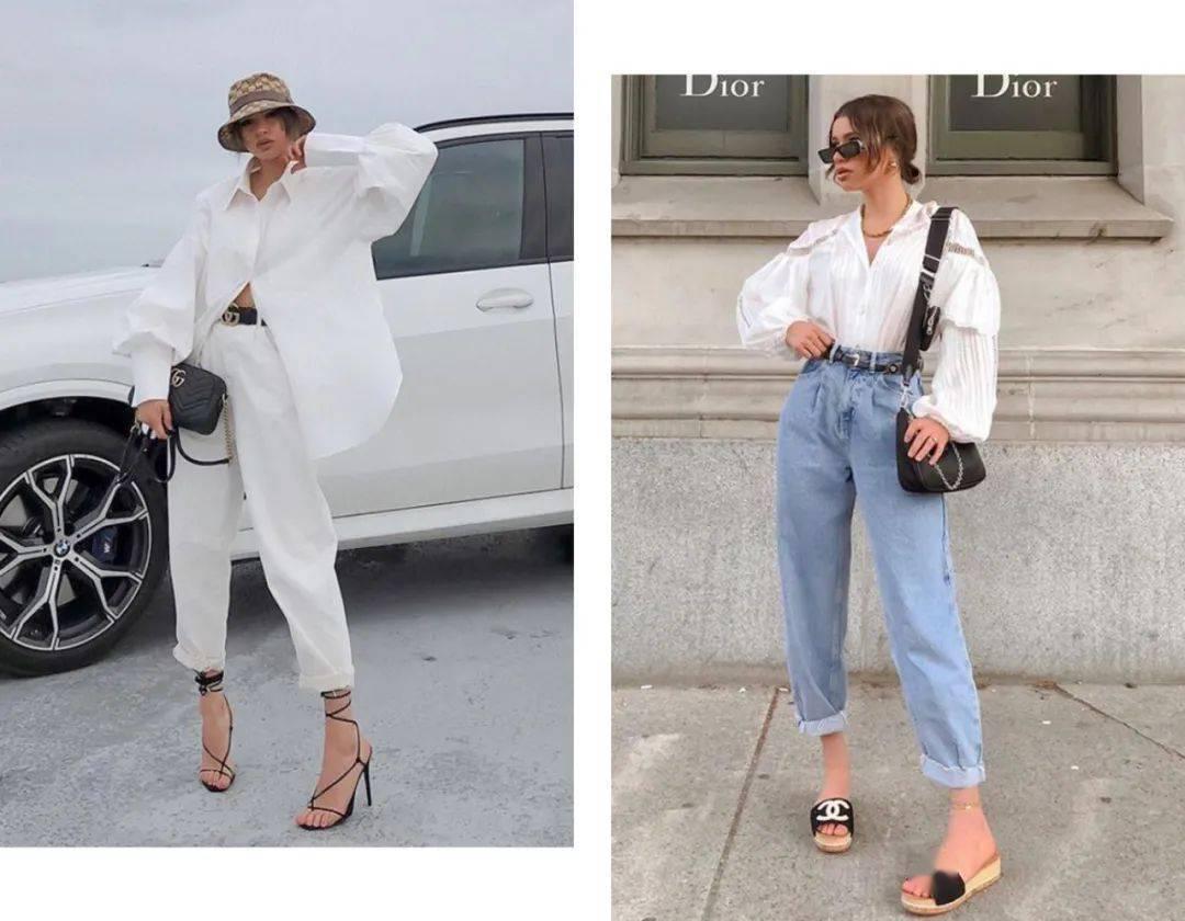 衬衫+纸袋裤=今夏巨in混搭,美到不像话!