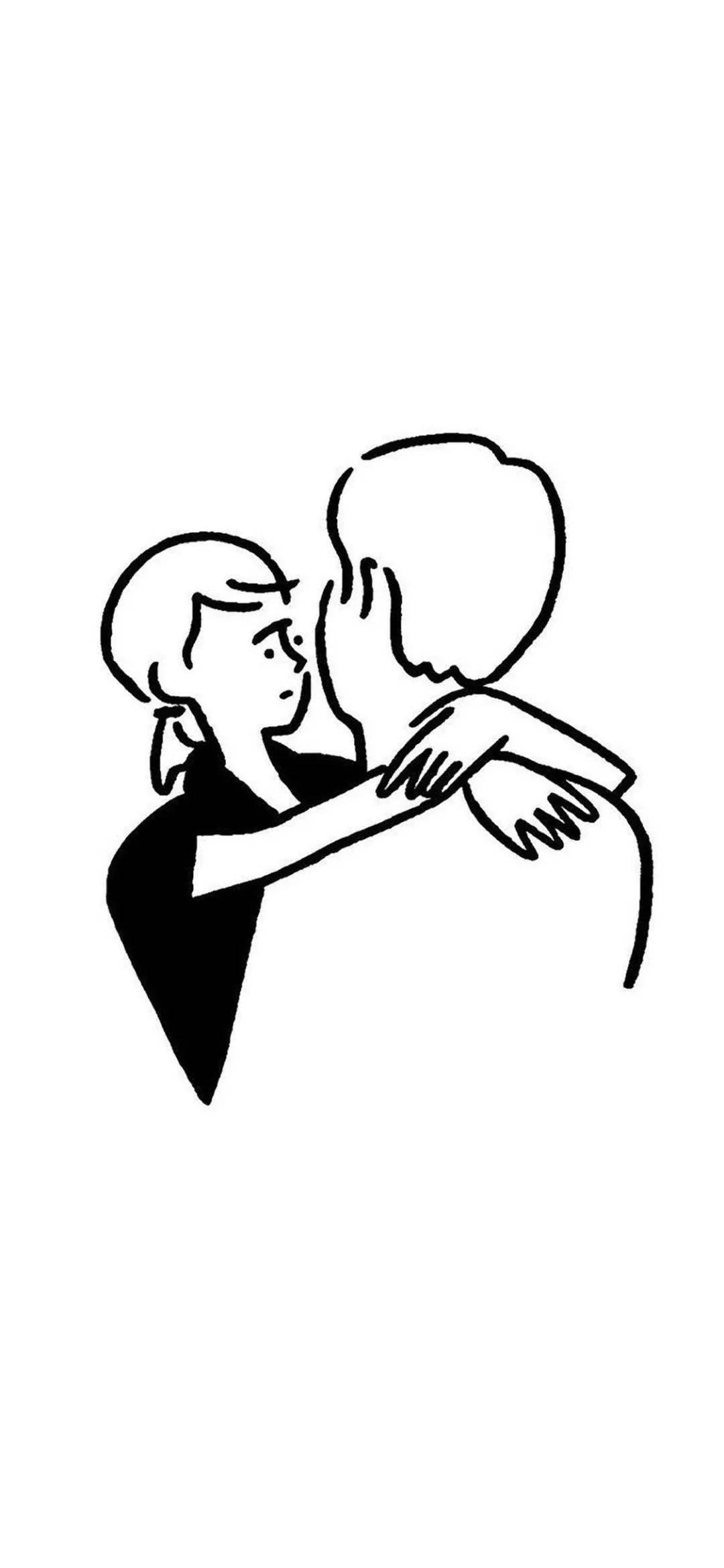 黑白简笔画情侣头像高清好看的卡通简笔画情侣头像图片 情侣头像 美头网