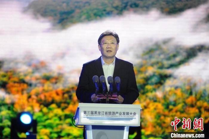 """黑龙江省长王文涛界江畔话旅游:让好风光""""云上""""传万里"""
