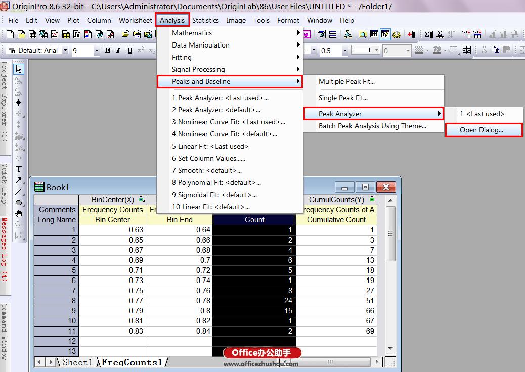 选中表中的第一和第三列数据点击Column图标 时